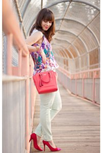Leather-Satchel-Pink